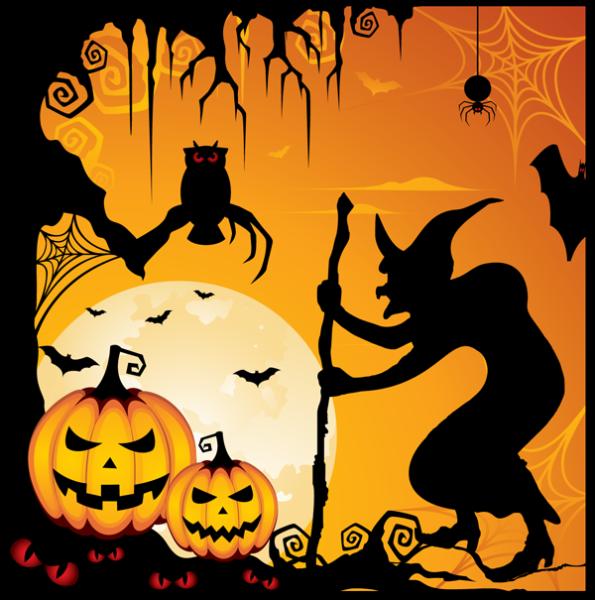 ảnh vẽ lễ hội hóa trang Halloween