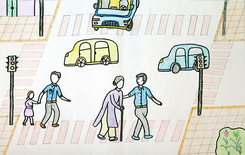 bức tranh vẽ đề tài an toàn giao thông ý nghĩa