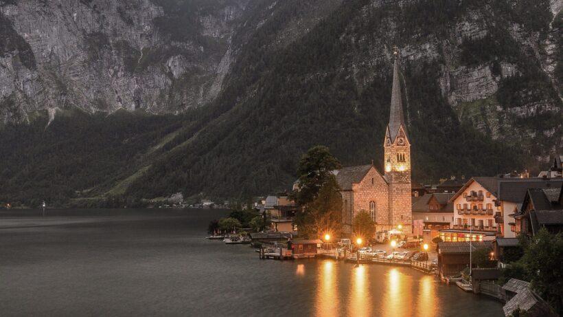 hình ảnh cảnh nhà thơ chân núi ven biển về chiều tối