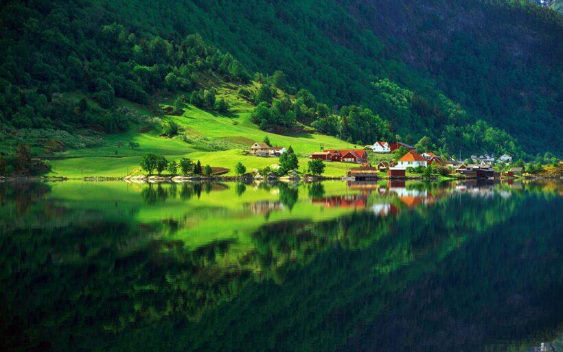 hình ảnh phong cảnh thiên nhiên xanh trong