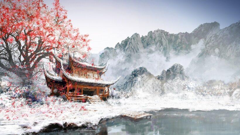 hình nền phong cảnh đẹp mùa đông