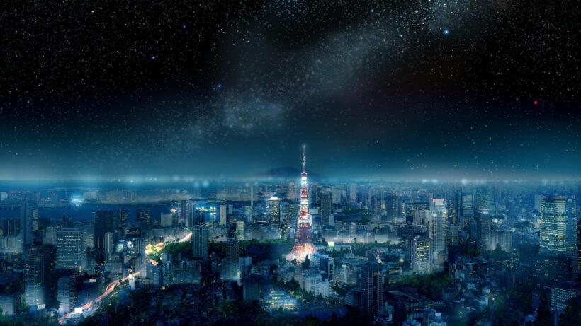 hình nền phong cảnh đẹp thành phố Tokyo về đem