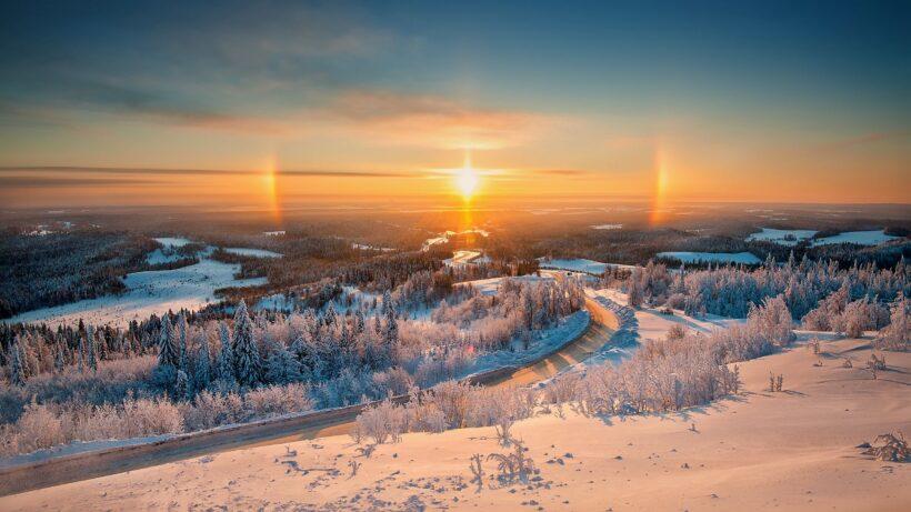 hình nền phong cảnh đẹp tuyệt vời của mùa đông Noel