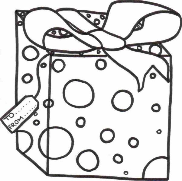 Tranh tô màu hộp quà Noel