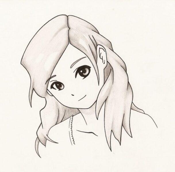 hình vẽ cô gái dễ thương