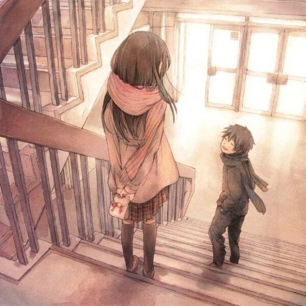 hình vẽ dễ thương tình yêu anime