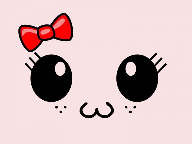 hình vẽ đôi mắt mèo dễ thương