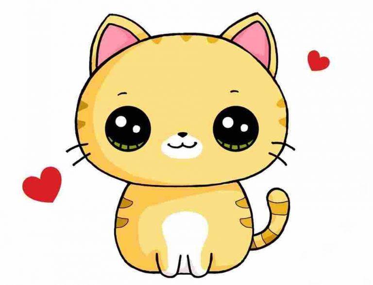 hình vẽ mèo dễ thương cute