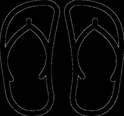 Tải tranh tô màu đôi dép cho bé (5)