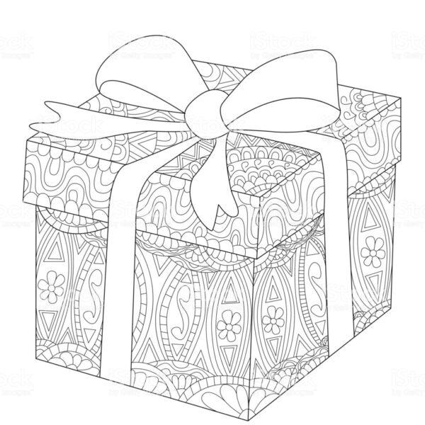 Tải tranh tô màu hộp quà (1)