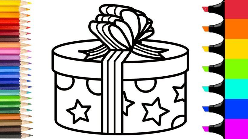 Tải tranh tô màu hộp quà (4)