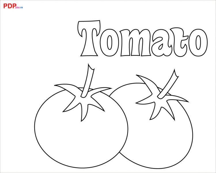 tải tranh tô màu quả cà chua cho bé