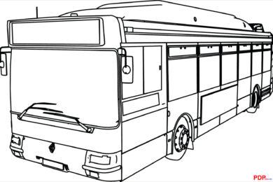 Tải tranh tô màu xe buýt cho bé tập tô