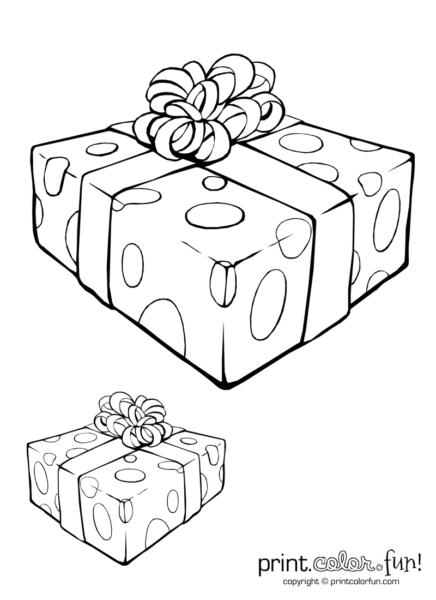 Tổng hợp tranh tô màu hộp quà đẹp cho bé (1)