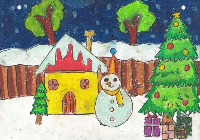 tranh đề tài lễ hội Noel