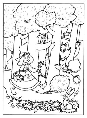 lab rats coloring pages Awesome Little Red Riding Hood Colouring Pages 6142
