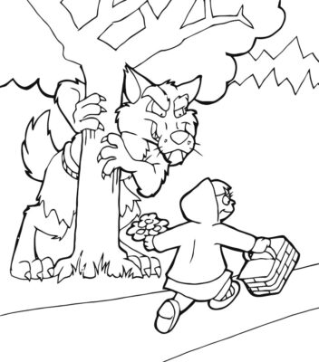 Best of Little red riding hood coloring pages