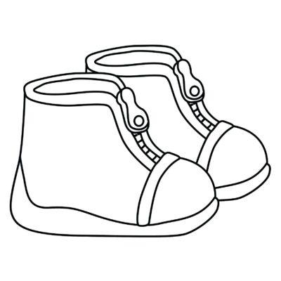 Tranh tô màu đôi dép đẹp để bé học tập tô (14)