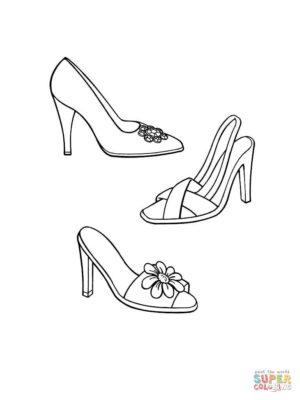 Tranh tô màu đôi dép đẹp để bé học tập tô (15)