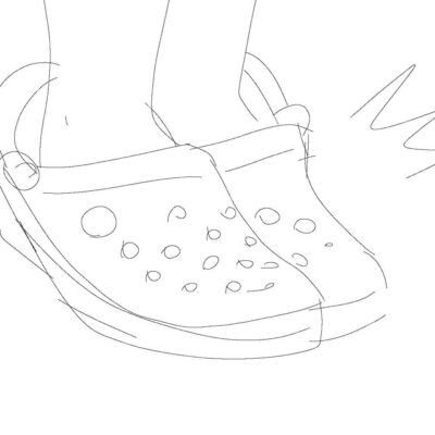 Tranh tô màu đôi dép đẹp để bé học tập tô (17)