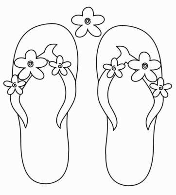 Tranh tô màu đôi dép đẹp để bé học tập tô (18)