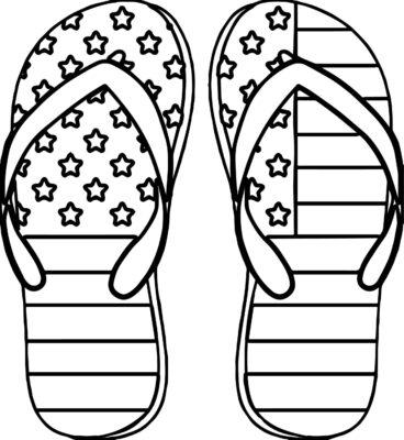 Tranh tô màu đôi dép đẹp để bé học tập tô (19)