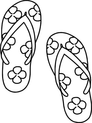 Tranh tô màu đôi dép đẹp để bé học tập tô (20)