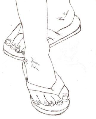 Tranh tô màu đôi dép đẹp để bé học tập tô (3)