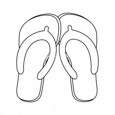Tranh tô màu đôi dép đẹp để bé học tập tô (5)
