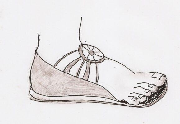 Tranh tô màu đôi dép đẹp để bé học tập tô (8)