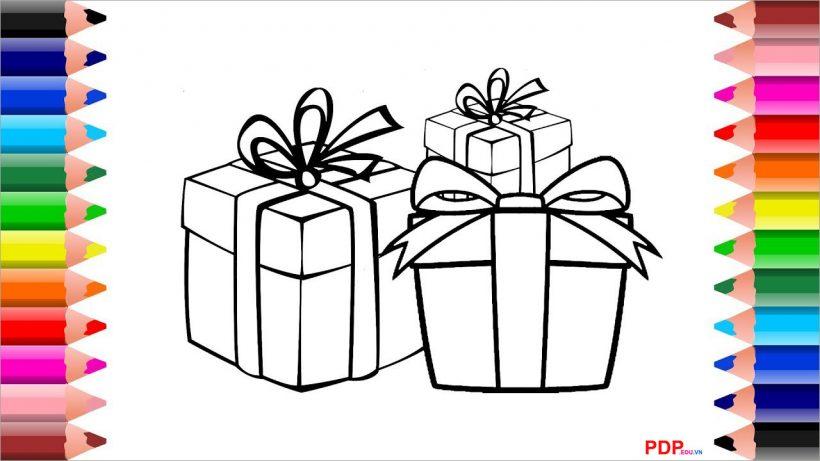 Tranh tô màu hộp quà cho bé