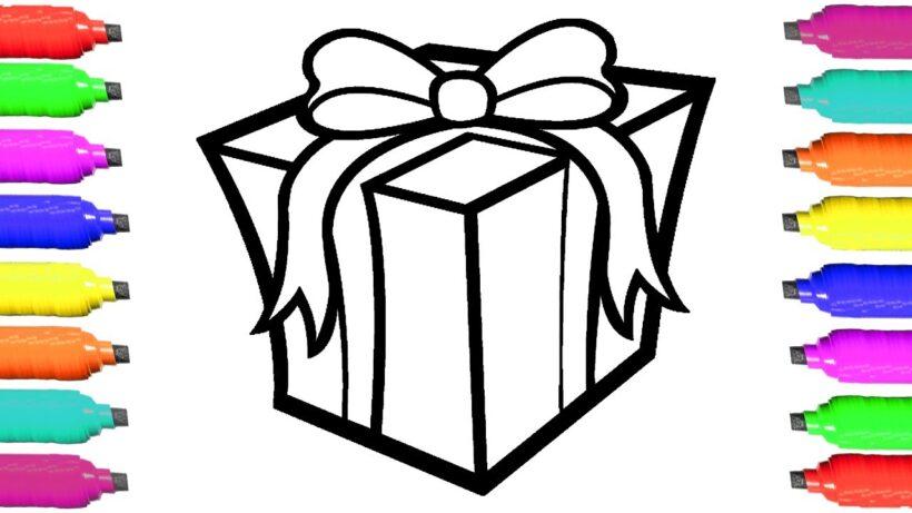 Tranh tô màu hộp quà cho bé tập tô (4)