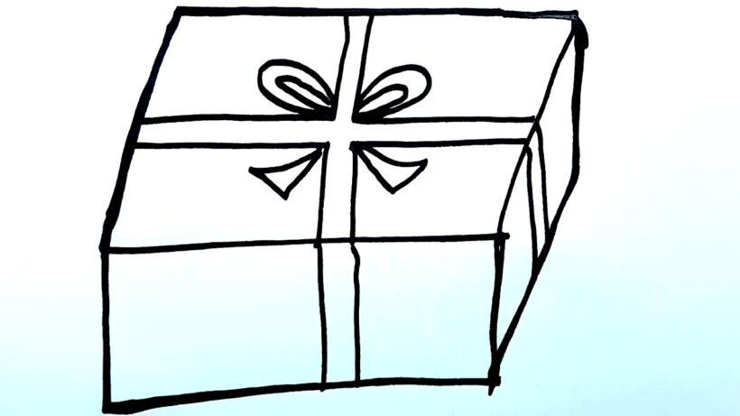Tranh tô màu hộp quà đơn giản cho bé (2)