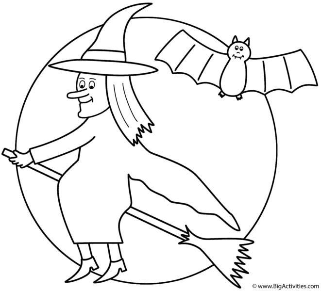 tranh tô màu trung thu phù thủy