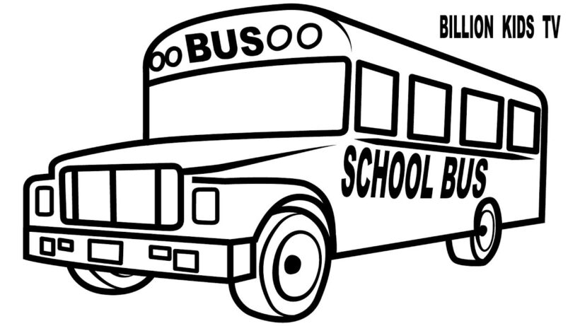 Printable How to Draw School Bus for Baby Drawings and Coloring Pages