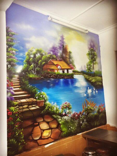 tranh tường 3D phong cảnh