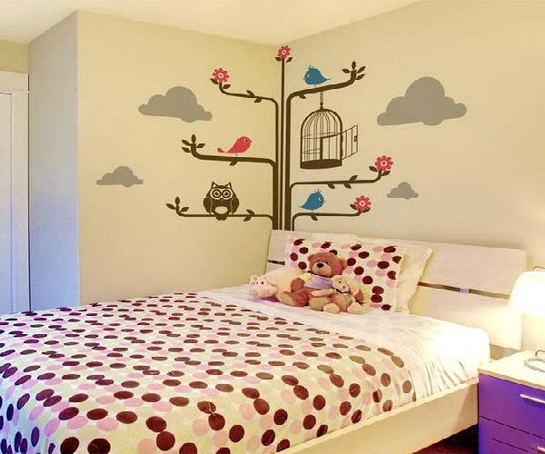 tranh tường cho phòng ngủ bay bổng nhẹ nhàng