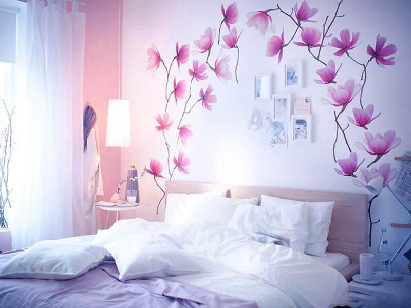tranh tường phòng ngủ đẹp nhẹ nhàng