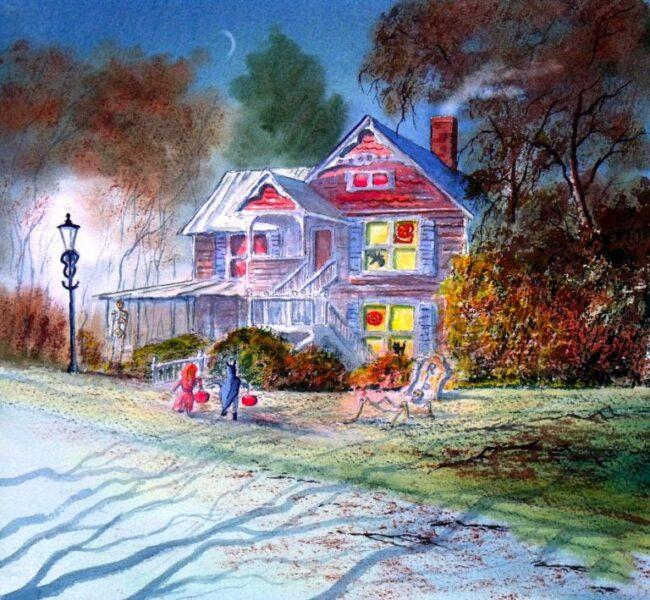 tranh vẽ chủ đề halloween