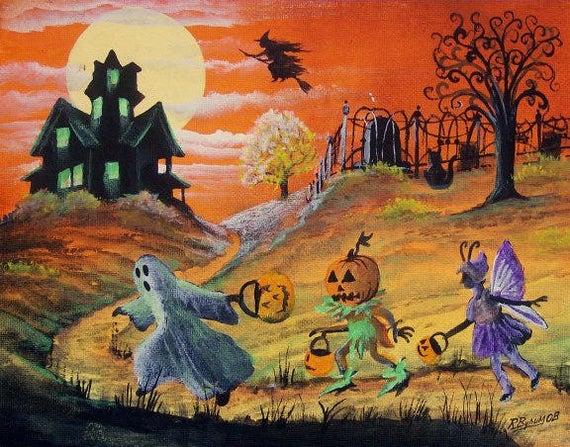tranh vẽ đề tài halloween
