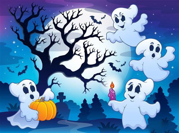 tranh vẽ ma chơi ngày halloween