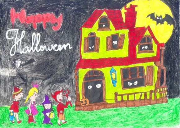 vẽ tranh đề tài halloween đẹp
