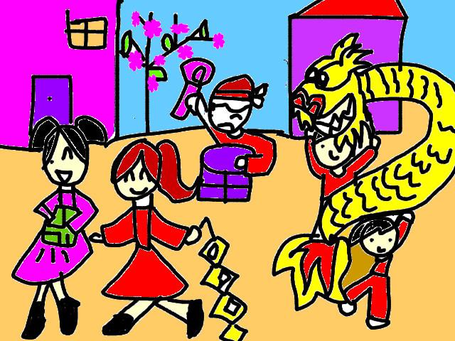 vẽ tranh đề tài lễ hội đơn giản dễ vẽ