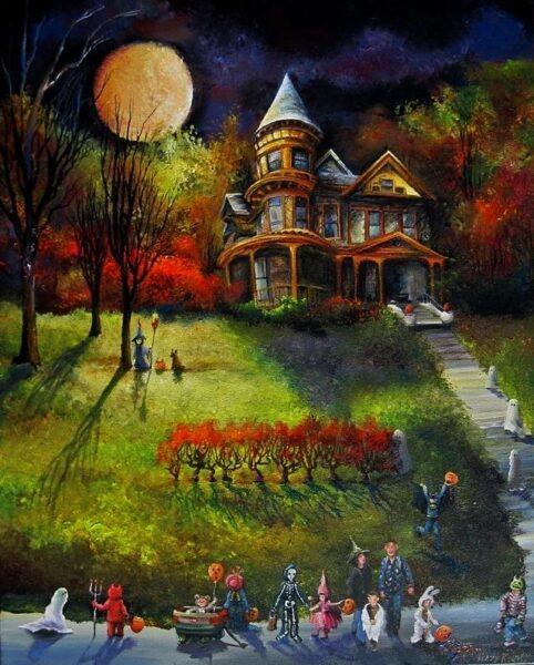vẽ tranh ngày lễ halloween
