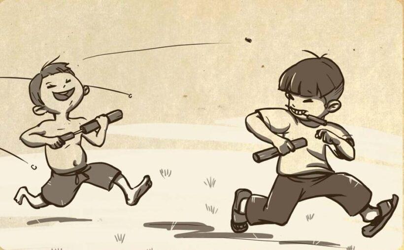 vẽ tranh trò chơi dân gian bắn súng giấy