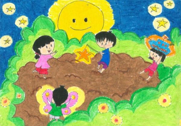 vẽ tranh trung thu của học sinh