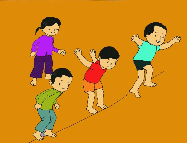 vẽ tranh về đề tài trò chơi dân gian cho học sinh