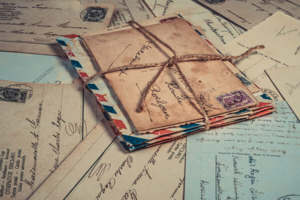 ảnh background Vintage lá thư