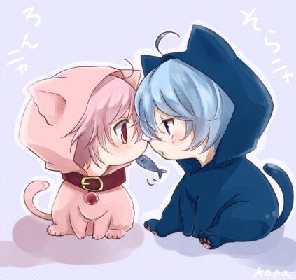 ảnh cute anime mèo