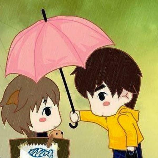 ảnh đại diện cặp đôi tình yêu lãng mạn dưới mưa